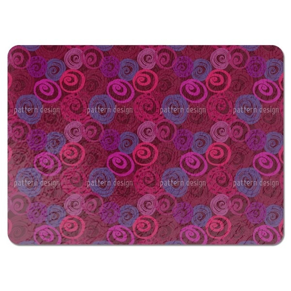 Roses in Circles Placemats (Set of 4)