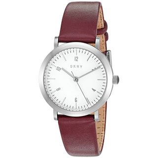 DKNY Women's NY2515 'Minetta' Red Leather Watch
