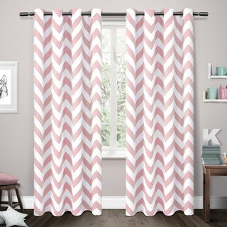 ATI Home Mars Thermal Woven Blackout Grommet Top Curtain Panel Pair