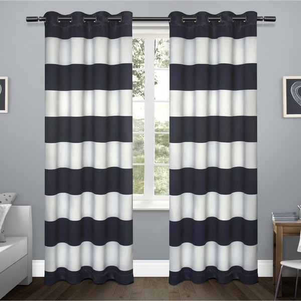 ATI Home Rugby Sateen Window Curtain Panel Pair with Grommet Top