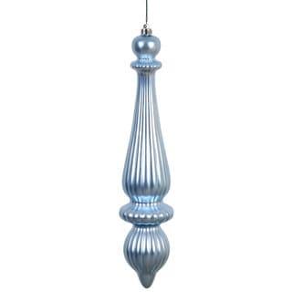 Steel Blue 14-inch Matte Finial Drop Ornament (Set of 2)