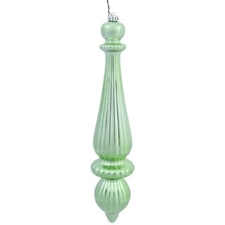 Shiny Celadon Plastic 14-inch Finial Drop Ornaments (Set of 2)