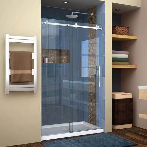 DreamLine Enigma Air 44-48 in. W x 76 in. H Frameless Sliding Shower Door