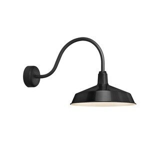 Troy RLM Lighting Standard Black 23 inch Arm Wall Sconce