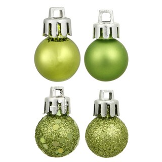 Lime 3-inch Assorted Finish Ornaments (Case of 32)