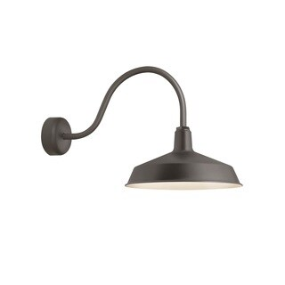 Troy RLM Lighting Standard Textured Bronze 23 inch Arm Wall Sconce