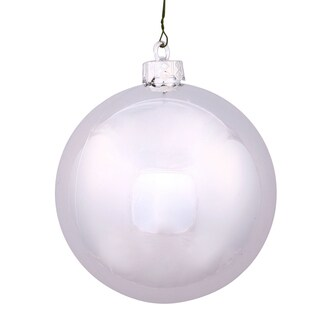 Silver Plastic 3-inch Splendor Shiny Ball Ornament (Pack of 32)