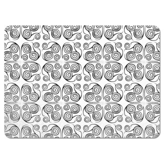 Jorinde Spirals Black and White Placemats (Set of 4)
