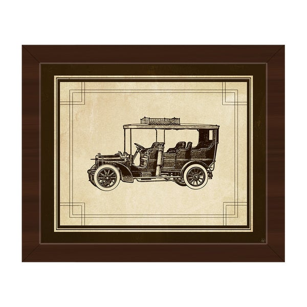 Vintage Automobile\' Canvas Framed Wall Art - Free Shipping Today ...