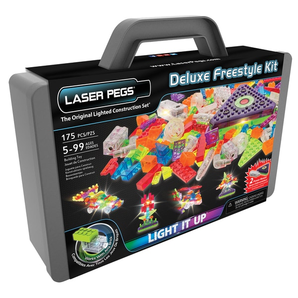 Laser Pegs Deluxe Freestyle Lighted Construction Toy Kit