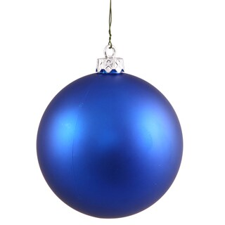 Blue Plastic 3-inch Matte Ball Ornaments (Case of 32)