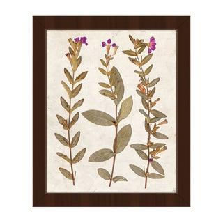 'Dry Purple Periwinkle' Framed Canvas Wall Art