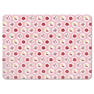 Grannys Cherry Garden Pink Placemats (Set of 4)