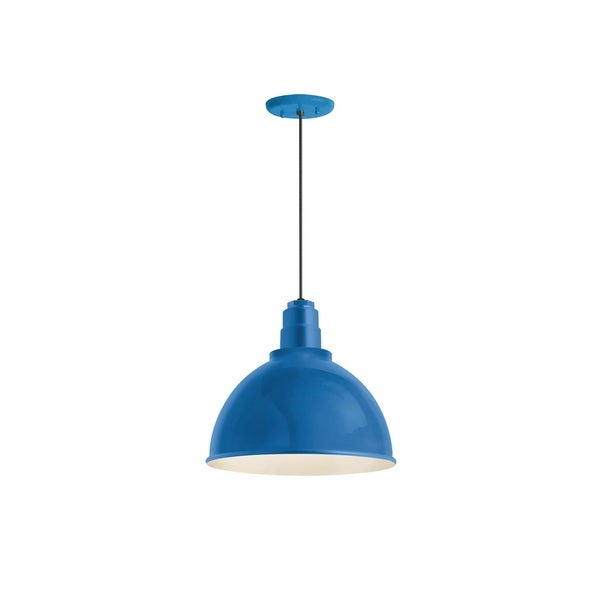 Shop Light With Reflector: Shop Troy RLM Lighting Deep Reflector Blue Pendant, 16