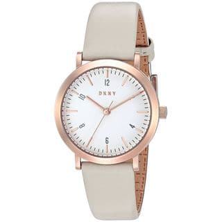 DKNY Women's NY2514 'Minetta' Grey Leather Watch|https://ak1.ostkcdn.com/images/products/12712832/P19494188.jpg?impolicy=medium