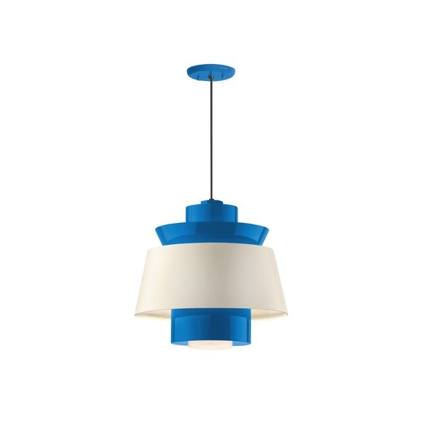 Troy RLM Lighting Aero Blue Multi Shade Pendant, 14 inch Shade
