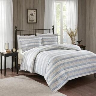 Woolrich Nordic Snowflake Blue Cotton Flannel Duvet Mini Set (2 options available)