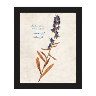 'Dry Blueweed' Black Plastic Framed Canvas Wall Art