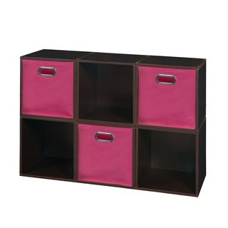 Niche Cubo Storage Set - 6 Cubes and 3 Canvas Bins
