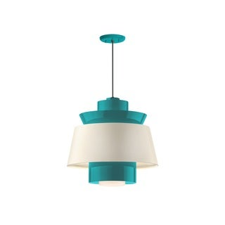 Troy RLM Lighting Aero Tahitian Teal Multi Shade Pendant, 16 inch Shade