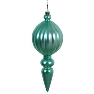 Seafoam Green Plastic 8-inch Matte Finial Ornaments (Pack of 6)