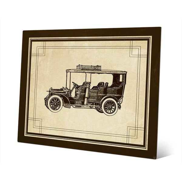 Shop \'Vintage Automobile\' Metal Wall Art - On Sale - Free Shipping ...