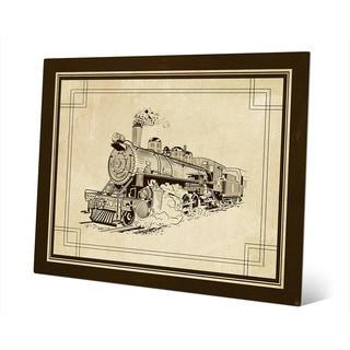 'Vintage Train' Metal Wall Art