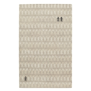 Genevieve Gorder Twigs Rectangular Hand Tufted Rugs Beige (9' x 12')