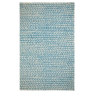 Genevieve Gorder Spear Rectangle Hand Tufted Rugs Beige Blue (9' x 12')