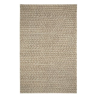Genevieve Gorder Spear Rectangle Hand Tufted Rugs Beige Chestnut (9' x 12')