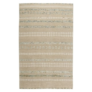 Genevieve Gorder Scandinavian Stripe Rectangle Hand Knotted Rugs Beige Smoke (9' x 12')|https://ak1.ostkcdn.com/images/products/12713109/P19494070.jpg?impolicy=medium