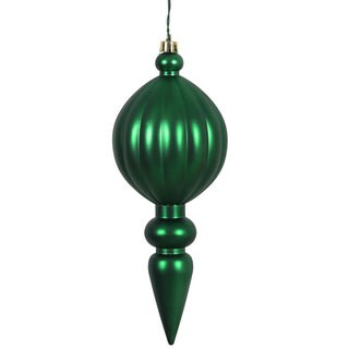 Emerald Green Plastic 8-inch Matte Finial Ornament (Pack of 6)