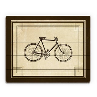 'Vintage Bicycle' Brown Wood Wall Art