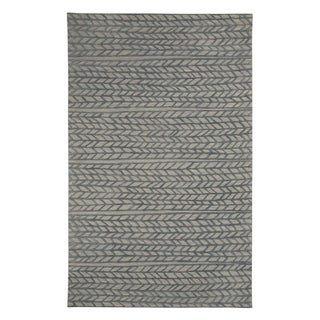 Genevieve Gorder Spear Rectangle Hand Tufted Rugs Granite Smoke (9' x 12')