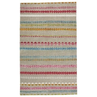 Genevieve Gorder Scandinavian Stripe Rectangle Hand Knotted Rugs Multi (9' x 12')