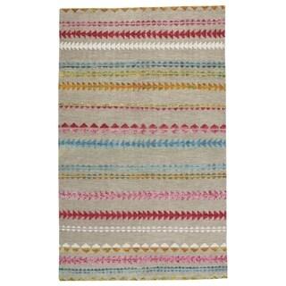 Genevieve Gorder Scandinavian Stripe Rectangle Hand Knotted Rugs Multi (9' x 12')