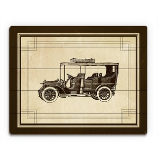 'Vintage Automobile' Wooden Canvas Contemporary Wall Art