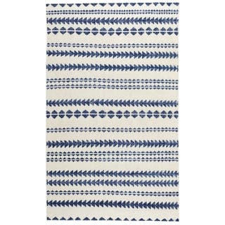 Genevieve Gorder Scandinavian Stripe Rectangle Hand Knotted Rugs Natural Blue (9' x 12')|https://ak1.ostkcdn.com/images/products/12713196/P19494077.jpg?impolicy=medium