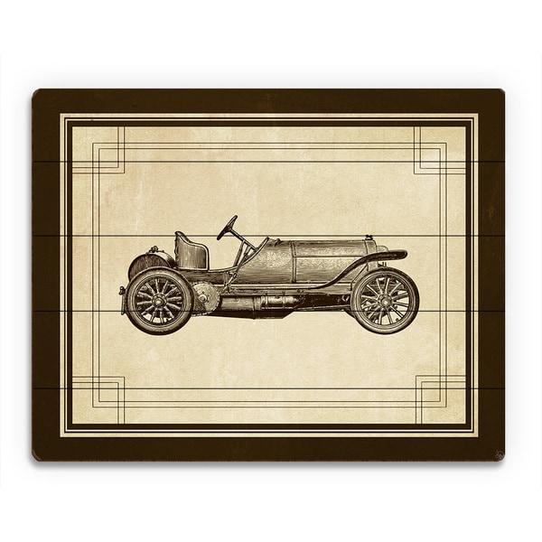 Shop Vintage Race Car Birchwood Wall Art - On Sale - Free Shipping ...