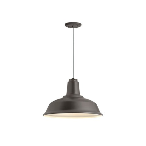 Troy RLM Lighting Heavy Duty Textured Bronze Pendant, 16 inch Shade