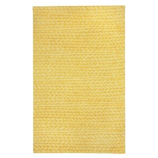 Genevieve Gorder Spear Rectangle Hand Tufted Rugs Yellow (9' x 12')