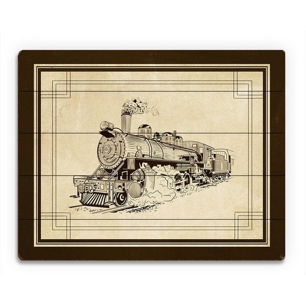 'Vintage Train' Wood Wall Art