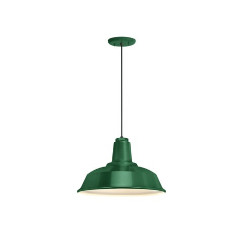 Troy RLM Lighting Heavy Duty Hunter Green Pendant, 14 inch Shade