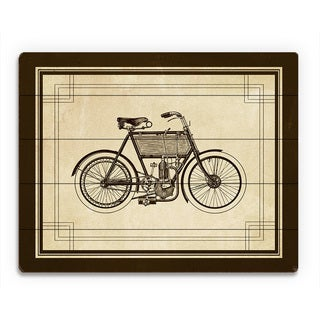 'Vintage Bike' Wood Wall Art