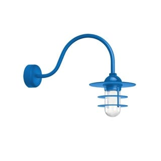 Troy RLM Lighting Retro Industrial Blue 23 inch Arm Flat Wall Sconce
