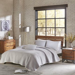INK+IVY Shelby Grey Cotton Jersey Heathered Coverlet Set (2 options available)