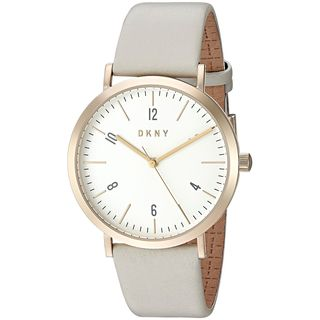 DKNY Women's NY2507 'Minetta' Grey Leather Watch
