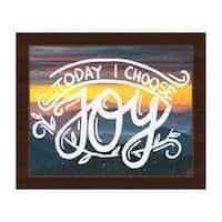 'Today I Choose Joy' Espresso-finished Framed Canvas Wall Art
