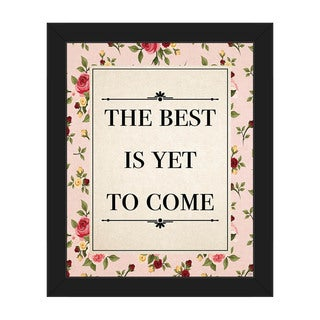 'Best Yet To Come' Framed Canvas Wall Art