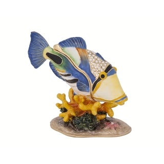 Huma Huma Fish Pewter Trinket Box